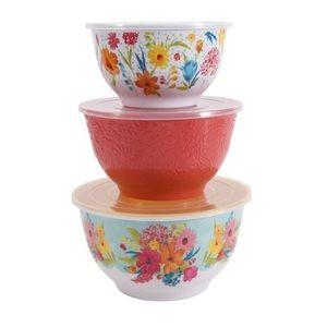 New Pioneer Woman 6 pc Storage bowl set